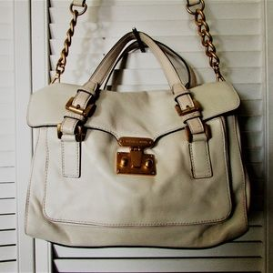 MICHAEL Michael Kors eggnog leather handbag 10X12